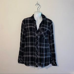 Abbot Main Spring Flannel Shirt Black Small